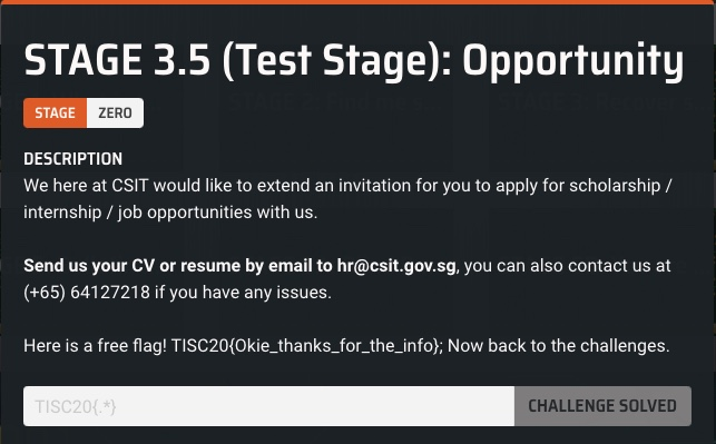 Stage 3.5 Description